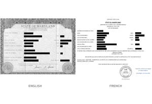 Personal Document Translation Sample - Birth Certificate